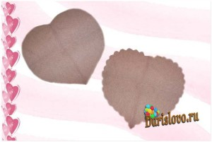 салфетки-сердце