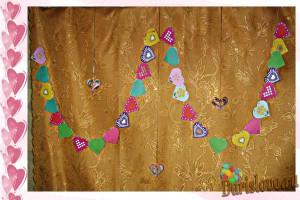 гирлянда из сердечек-валентинок