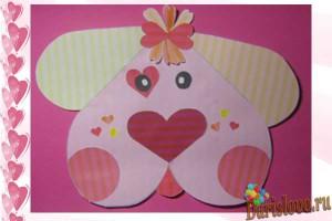 забавная валентинка из бумаги