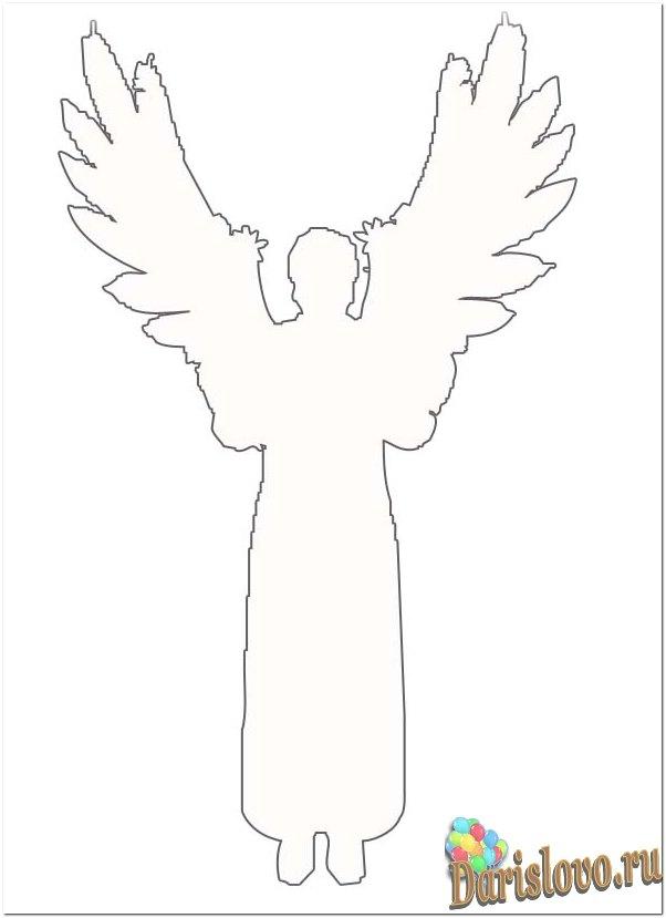 Вырезать ангела из бумаги