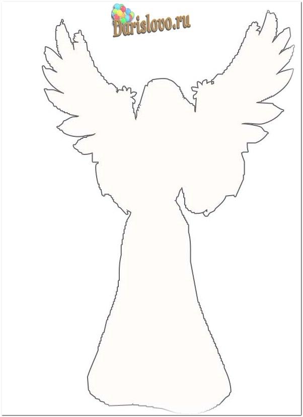 Схема вырезания ангела