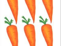 нарисованная морковь
