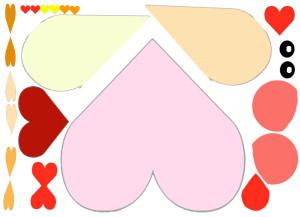 детали для изготовления валентинки