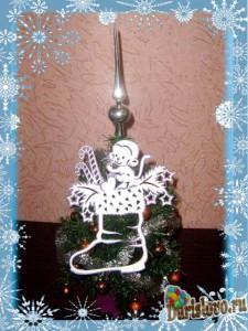 рождественский сапожок из бумаги